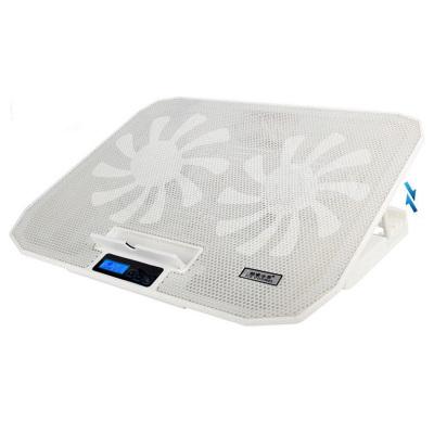 酷睿冰尊 笔记本散热垫14-17.6寸笔记本手提电脑降温底座冷风排风扇支架垫静音N106散热垫 白色旗舰版 凯辛