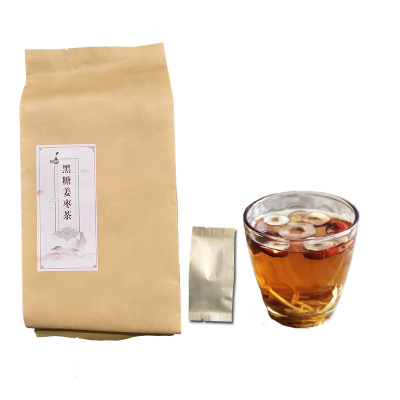 恒敬黑糖姜棗茶260克 26g*10小包水黑糖姜茶姜糖女老姜塊生姜紅糖姜棗養生茶小袋裝