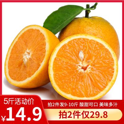 匯爾康(HR) 新鮮夏橙帶箱5斤裝 新鮮水果橘子時令臍橙