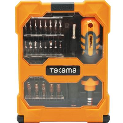 takama(高松)701034 33件螺丝刀套装精密多功能手机电脑维修工具 螺丝批套装带磁性