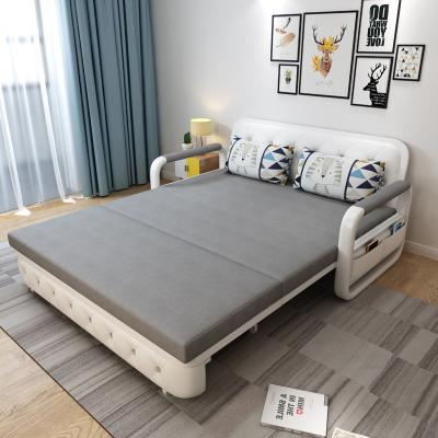 沙發床兩用可折疊單人雙人小戶型客廳多功能可儲物網紅款折疊床