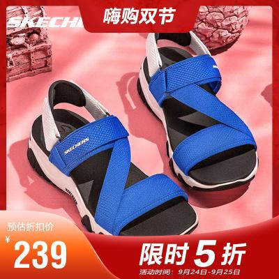 Skechers斯凱奇女鞋熊貓鞋運動涼鞋魔術貼沙灘鞋88888181