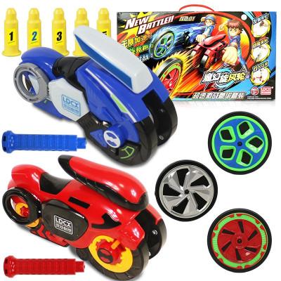 靈動創想魔幻旋風輪摩托陀螺超速激戰豪華套裝-藍暴威龍VS天焰重甲男孩女孩玩具7941