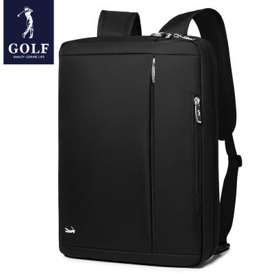 高爾夫(GOLF)男士雙肩包可裝15.6英寸筆記本電腦包手提公文包2020新品多功能背包男商務旅行包