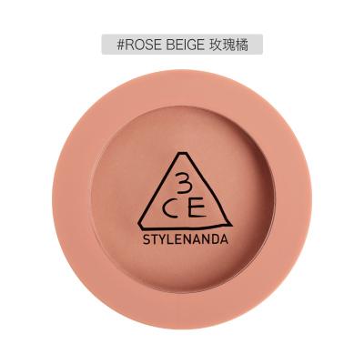 3CE腮红 MOOD RECIPE情调配方  哑光柔滑修容定妆胭脂腮红5.5g ROSE BEIGE# 细腻服帖 不飞粉