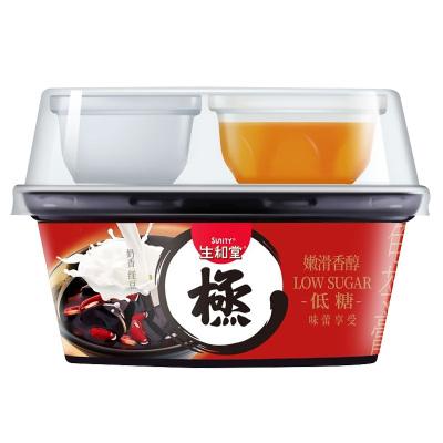 生和堂龟苓膏果冻布丁零食奶香红豆味椰果烧仙草龟苓膏222g*6杯装