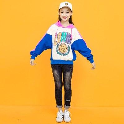 儿童卫衣女春秋2018新款韩版潮女童大童12-15岁宽松连帽秋装洋气