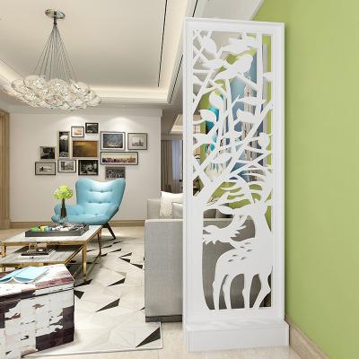 欧式客厅玄关屏风隔断镂空雕花装饰背景橱窗现代简约移动座屏