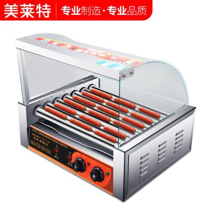 美萊特7管烤腸機商用熱狗烤香腸機全自動臺灣小型迷你火腿腸家用 7管不帶門