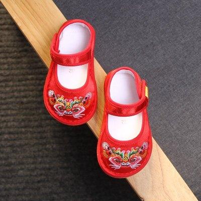 婴儿虎头鞋子男宝宝手工布鞋千层底女童绣花唐装鞋中国风老北京秋