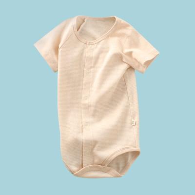 龍之涵(LONGZHIHAN)嬰兒短袖連體衣夏裝女寶寶哈衣爬服男新生兒衣服