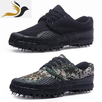 低腰防滑解放鞋軍綠色帆布球鞋農田工作鞋老式軍訓膠鞋3537  簡翔(JianXiang)  JianXiang