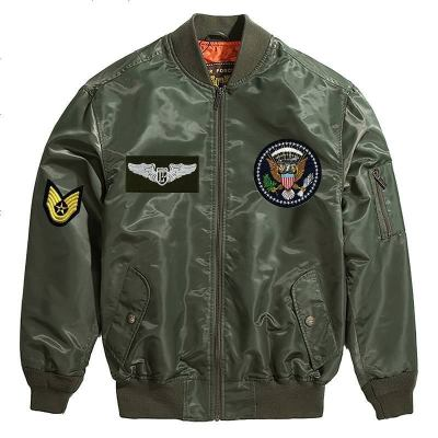 Luxury Lane男士MA-1空军飞行夹克 印花外套款LL