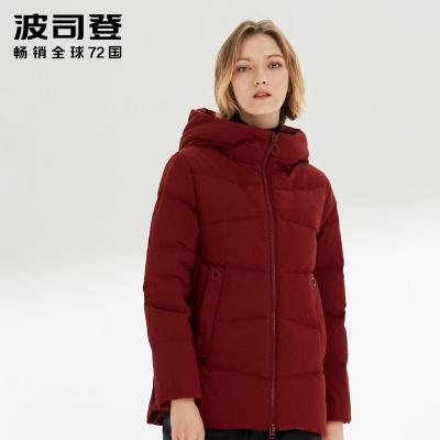 波司登羽绒服短款2019冬季中老年女装保暖厚款外套B90141016