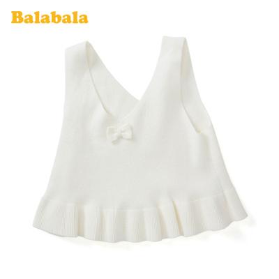 巴拉巴拉童裝兒童坎肩女童春季2020新款針織吊帶上衣小童寶寶背心