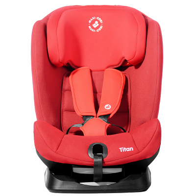 maxicosi邁可適汽車兒童安全座椅9個月-12歲頭靠12檔可調五點式安全帶ISOFIX接口(星耀紅)Titan