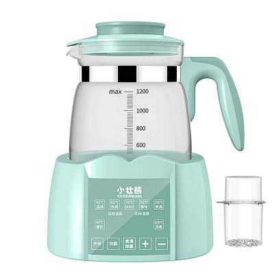 小壯熊,XIAOZHUANGXIONG恒溫調奶器 嬰兒恒溫水壺 寶寶多功能玻璃燒水壺1200升級綠