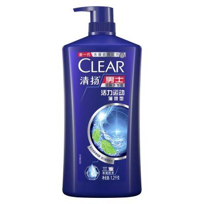 清揚(CLEAR)男士去屑洗發露 活力運動型藍瓶1.2KG控油去屑清爽【聯合利華】