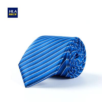 HLA/海澜之家桑蚕丝商务领带秋季条纹箭头型领带男HZLAD3E033A