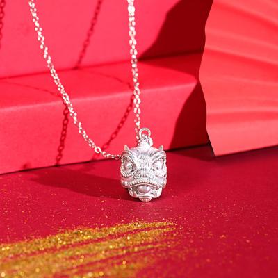 非遺美物上海造幣出品3D雕刻獅來運轉999純銀吊墜贈925純銀項鏈