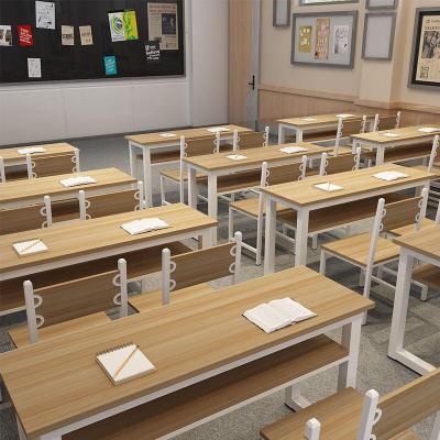 學校輔導班課桌椅培訓機構閃電客教室課桌單雙人中小學生補習班桌椅組合