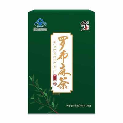 修正羅布麻茶輔助絳血脂茶可搭降脂茶保健品配新疆正品羅布麻降壓茶絳血壓茶膠股藍降壓茶葉三高