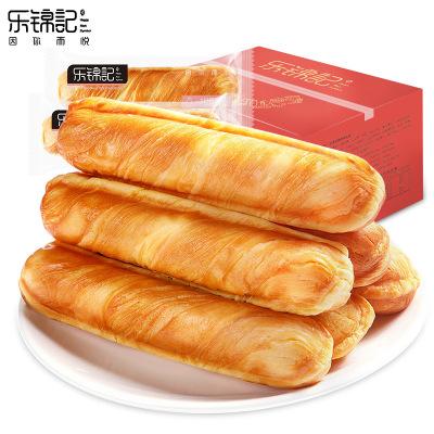 【樂錦記】手撕面包棒奶香原味新鮮精裝整箱營養早餐面包休閑零食750g/箱