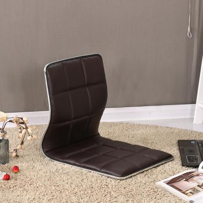 榻榻米椅子和室椅 床上椅子靠背 懒人床上无腿椅日韩式凳子学生寝室宿舍靠椅SN9272 棕色方格款 整装