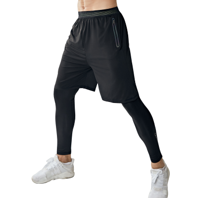 KARALCHI 運動緊身衣褲套裝速干籃球跑步健身訓練服兩件套吸汗短褲男/ALK-K5553