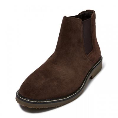 【2件2.5折價:99.8】CHIN祺男士切爾西靴2020新款春秋季時尚復古高幫靴子絨面革英倫風