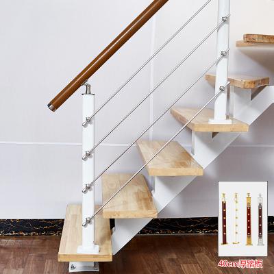 定制中柱旋轉室內家用整體樓梯踏步板閣樓復式樓踏板實木室外躍層 套餐四