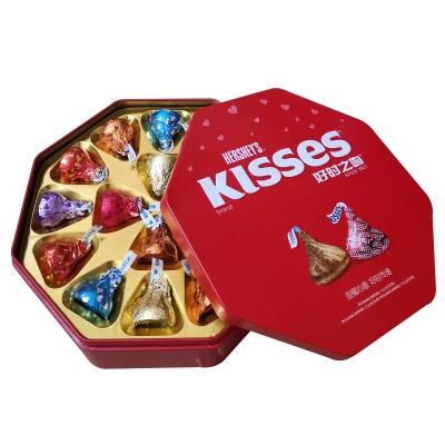 好時巧克力好時之吻巧克力16粒八角鐵盒禮盒裝滿月成品結婚喜糖