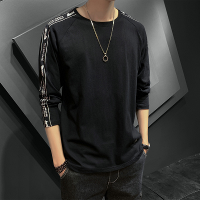 長袖T恤男春秋新款韓版修身圓領T恤學生打底衫青年時尚英倫棉體恤UYUK