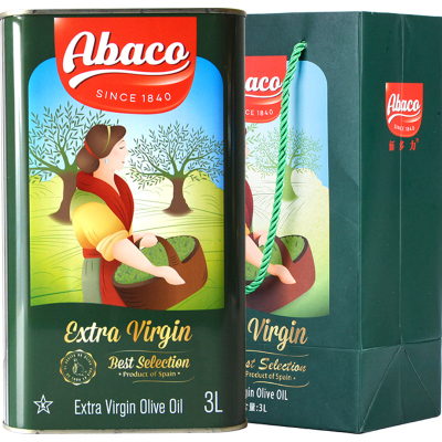 19年新货佰多力(Abaco)原装进口特级初榨橄榄油3L福利送礼食用油(西班牙)新老包装
