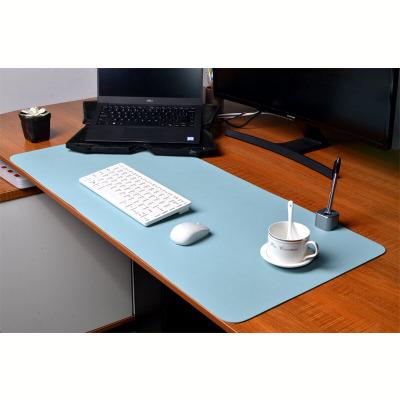 酷猫(my cool cat) 鼠标垫 超大双面皮质写字电脑办公桌垫 皮革大班台桌面防水工作铺垫子游戏90*40天蓝