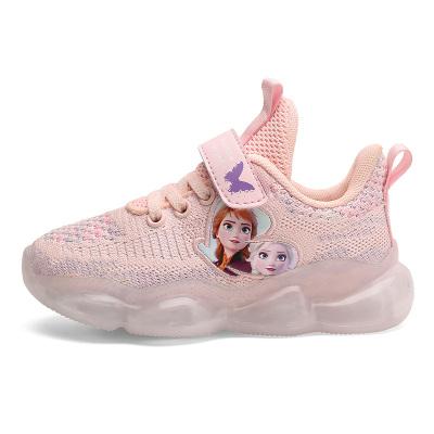 酷嘎(COGA)女童鞋子秋季個性潮時尚2020年新款秋季童鞋百搭運動鞋秋中大童女鞋