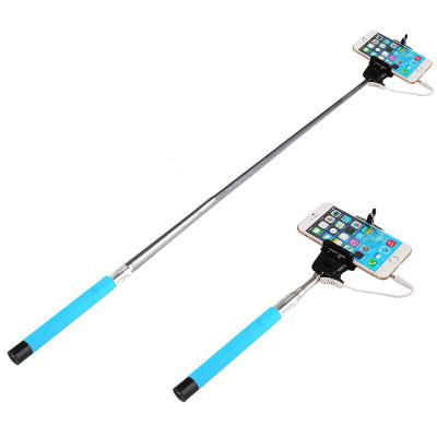 鸿伟科(HWK) 手机自拍杆 一键线控拍照自拍神器 适用于苹果小米OPPO华为VIVO魅族通用 自拍杆-蓝色