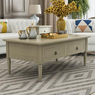 枳记家 帝宅美式轻奢实木茶几电视柜组合套装客厅小户型现代简约成套家具