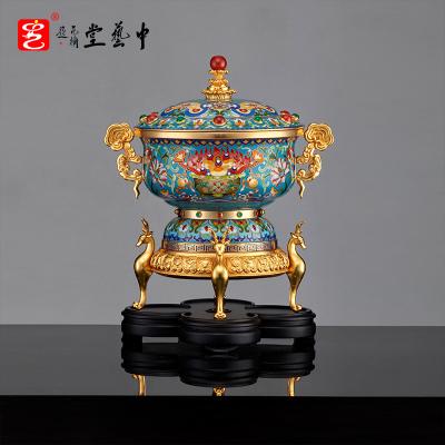 中藝盛嘉 張同祿 景泰藍收藏品 《富貴同路》聚寶盆 商務送禮