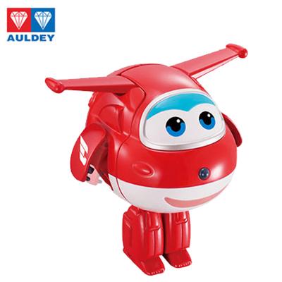 奥迪双钻(AULDEY)超级飞侠 3岁以上男孩女孩儿益智玩具 弹射蛋系列 手动变形机器人趣变蛋三步变形乐迪720551