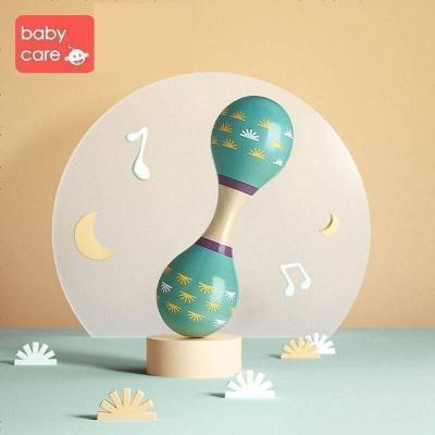 babycare嬰兒抓握玩具 寶寶小沙錘搖鈴打擊樂器兒童聽力訓練玩具 海霧藍