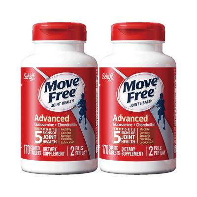 【2瓶裝】Schiff 旭福 Move Free氨糖維骨力軟骨素 成人中老年人護關節 鈣片 紅瓶170粒x2瓶