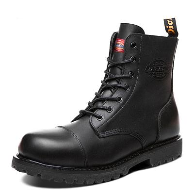 Dickies马丁靴2019男秋冬季男靴子中帮真皮男鞋户外工装靴子174M50LXS38