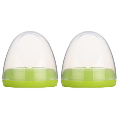 适配 贝亲(PIGEON)宽口径奶瓶配件 PP盖帽组BA61*2绿色