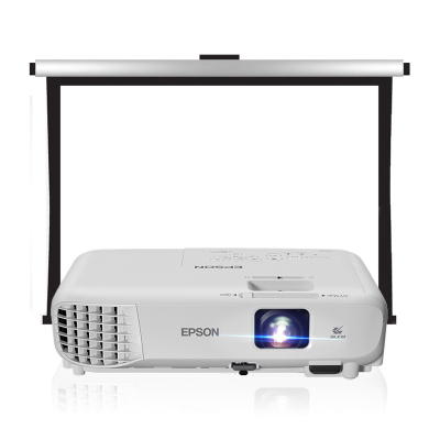 【套餐】爱普生(EPSON)CB-X05【100英寸4:3电动幕布】商务办公投影机 教学会议投影 家用高清投影仪(3300流明 1024×768分辨率)