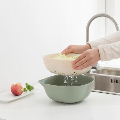 优勤厨房双层沥水篮
