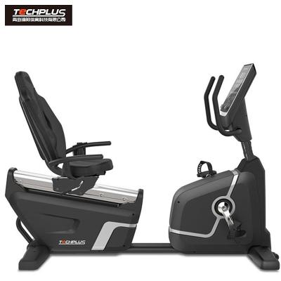 美国瑜阳TECHPLUS商用背靠式卧式健身车PB302静音运动健身器材