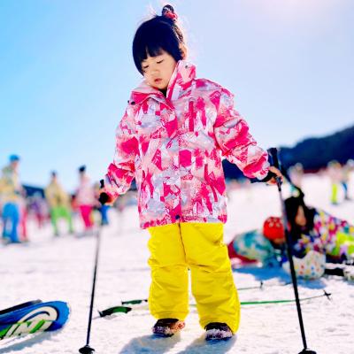 魅扣 特价儿童滑雪服套装冬女单双板防风防水加厚大中小男童滑雪裤