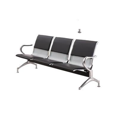 三人位排椅醫院候診椅輸液椅CIAA休息聯排公共座椅機場椅等候椅不銹鋼 3人位(帶墊)