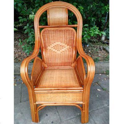 HKDA印尼天然藤椅子 單人 三件套休閑椅辦公椅電腦椅騰椅老人高靠背椅